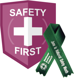 national safety month CVS badge ribbon