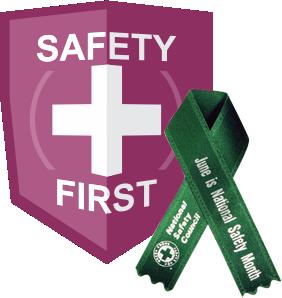 national safety month CVS badge ribbon