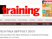 training magazine Tech Talk sept/oct 2017