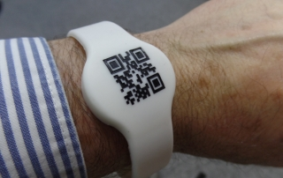 Wristband with QR code
